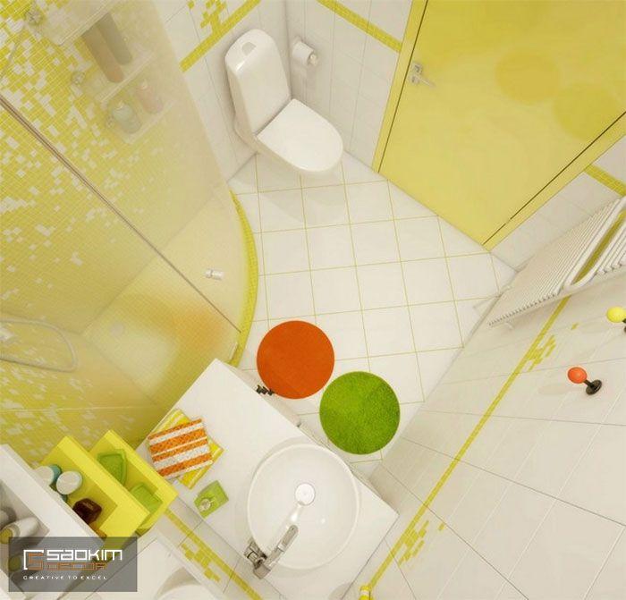 Thiết kế phòng tắm chung cư mini 25m2 cho thuê