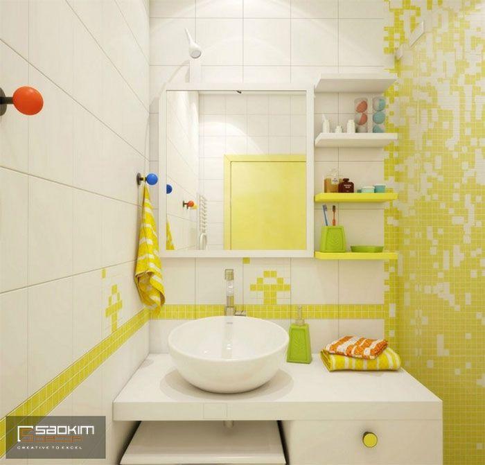 Thiết kế chung cư mini cho thuê theo phong cách Color block