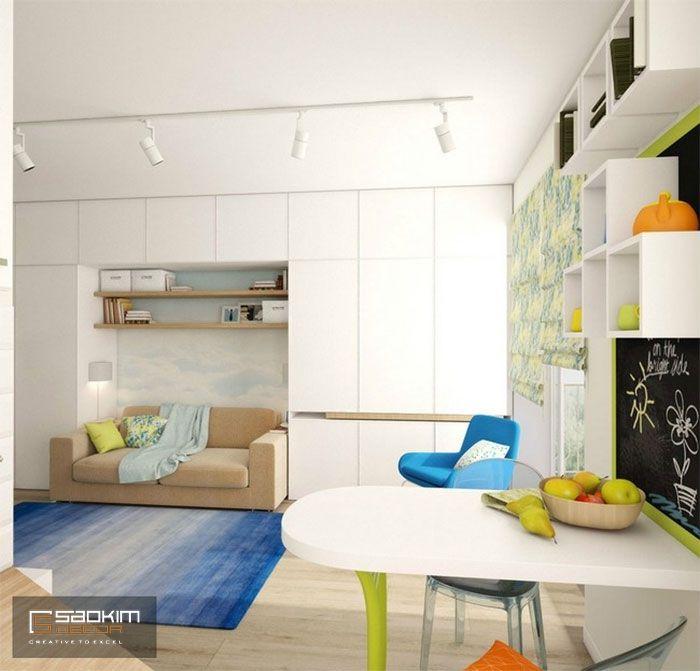 Thiết kế nội thất chung cư cho thuê theo phong cách Color Block