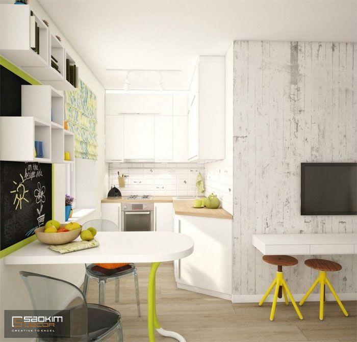 Thiết kế nội thất phòng bếp chung cư mini cho thuê