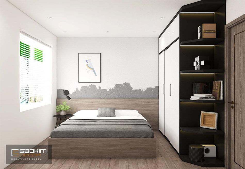 Mẫu thiết kế phòng ngủ bé trai chung cư OCT3A dự án Resco Cổ Nhuế
