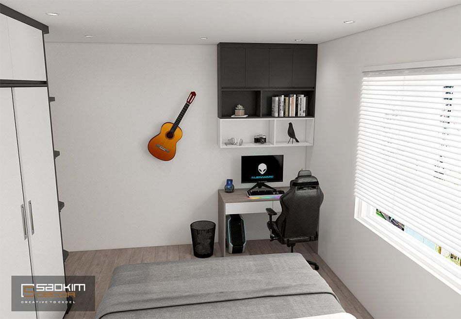 Thiết kế phòng ngủ chung cư cho bé trai