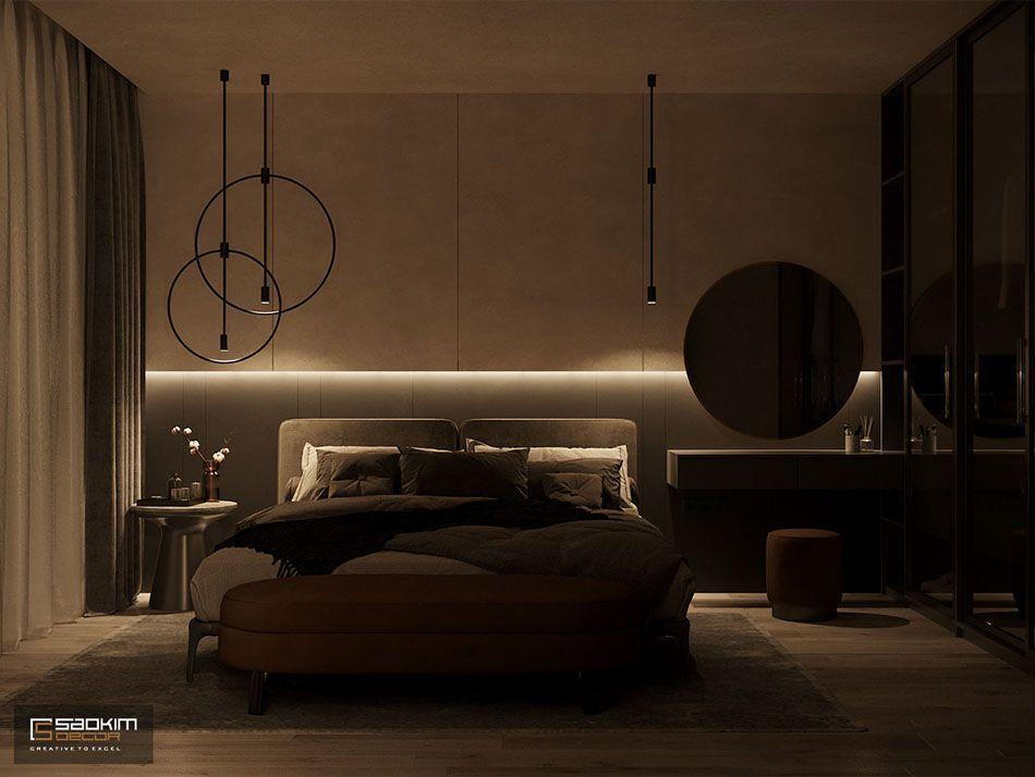 Mẫu thiết kế nội thất phòng ngủ căn hộ chung cư Vinhomes Skylake Phạm Hùng