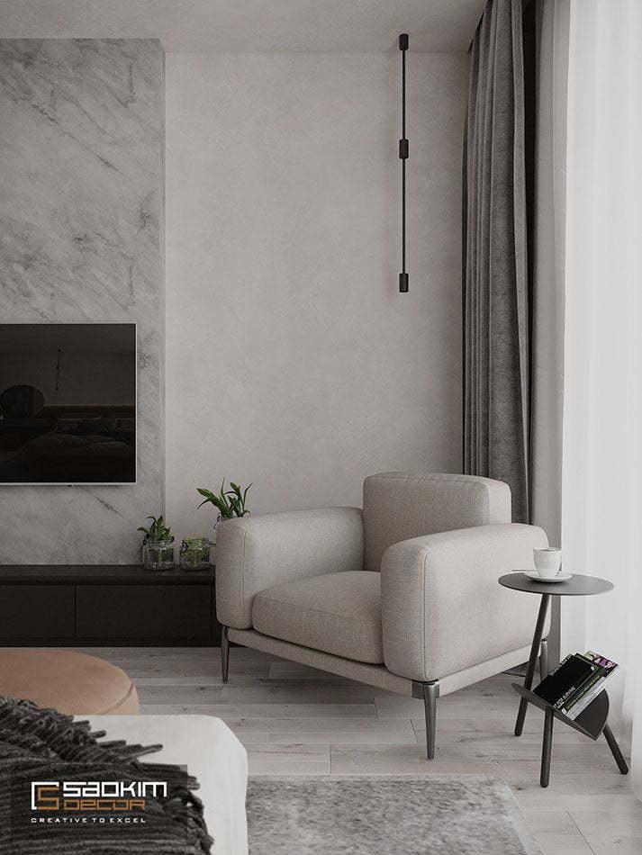 Thiết kế nội thất phòng ngủ căn hộ chung cư theo phong cách Đài Loan