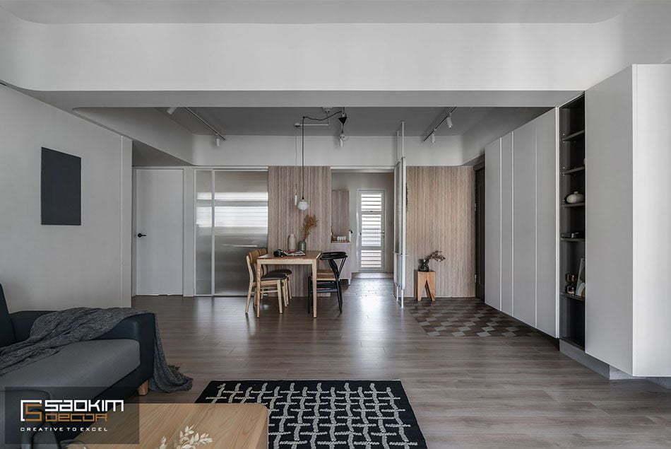 Thiết kế nội thất căn hộ chung cư Vinhomes Skylake Phạm Hùng theo phong cách Đài Loan