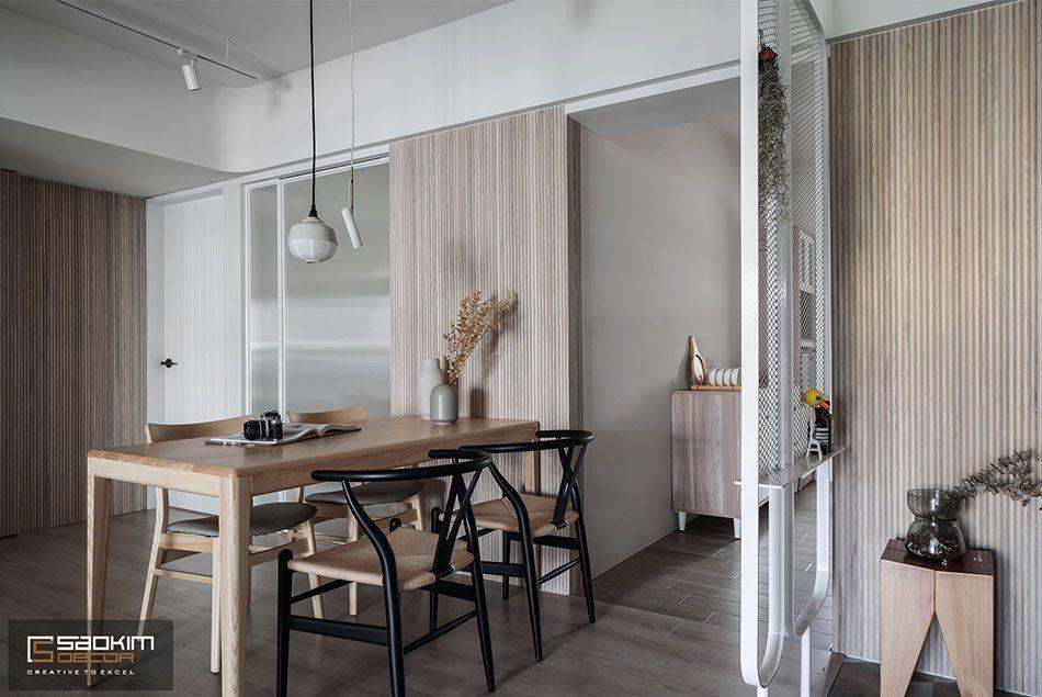 Thiết kế nội thất phòng ăn căn hộ chung cư Vinhomes Skylake Phạm Hùng