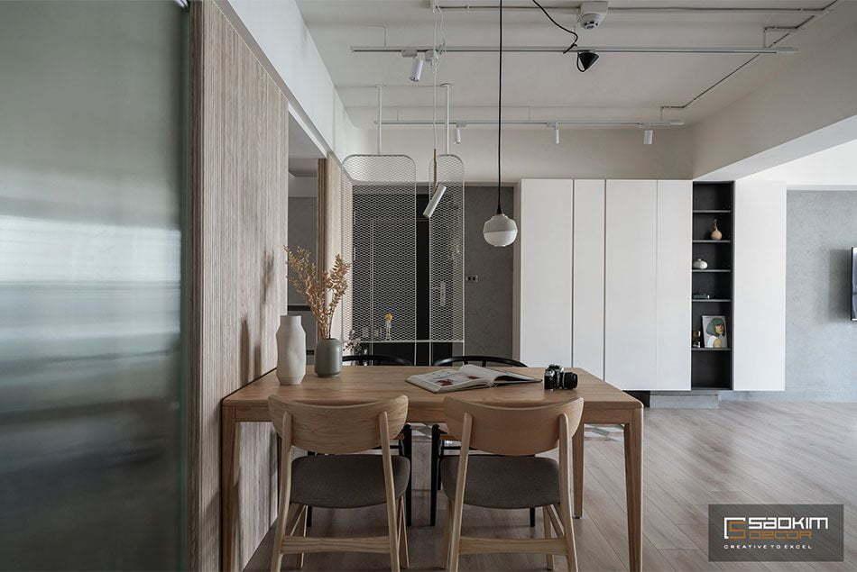 Thiết kế nội thất căn hộ đơn giản nhưng đáp ứng đầy đủ yêu cầu thẩm mỹ, công năng sử dụng cho các thành viên trong nhà