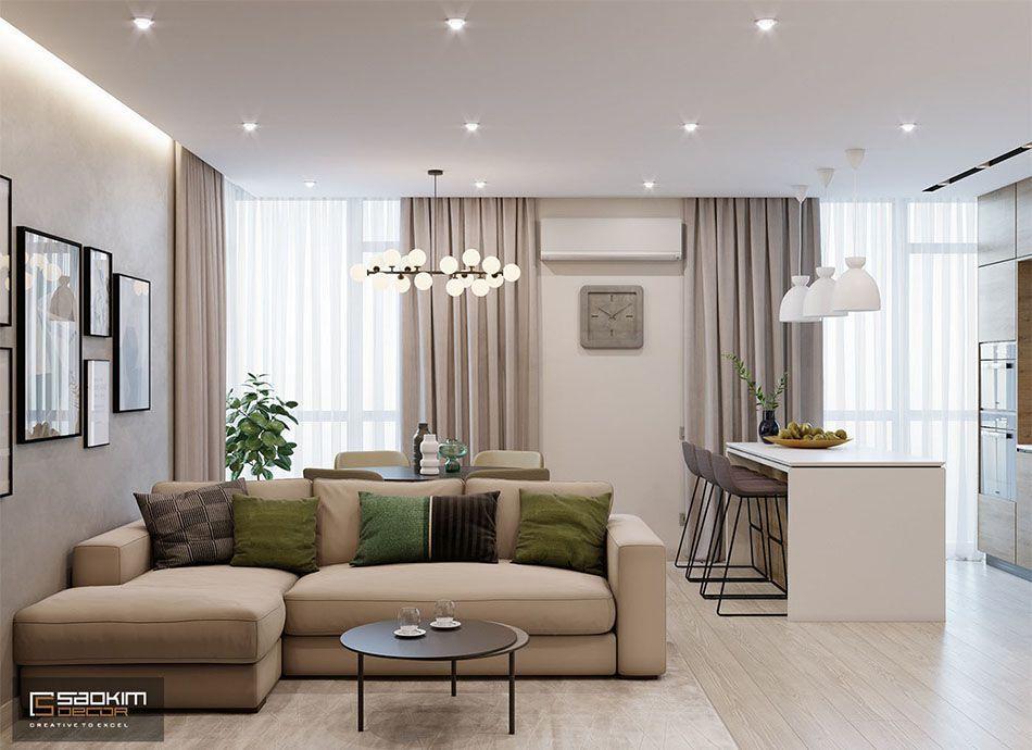 Mẫu thiết kế nội thất chung cư 78m2 Eco City Việt Hưng