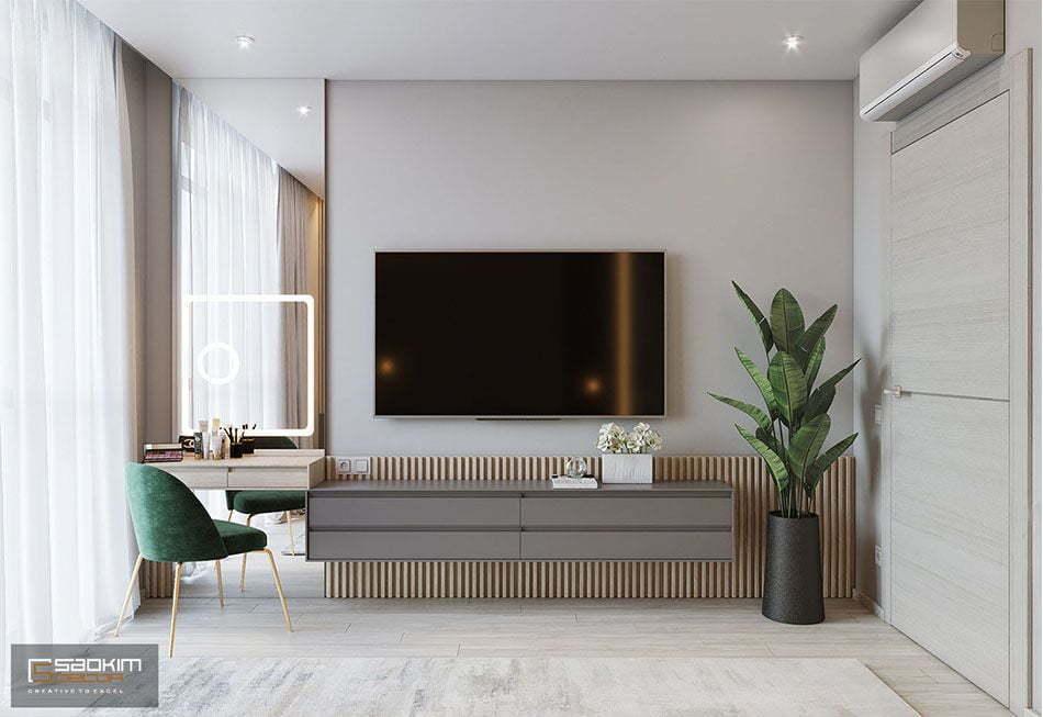 Mẫu thiết kế nội thất phòng ngủ master hiện đại, tinh tế