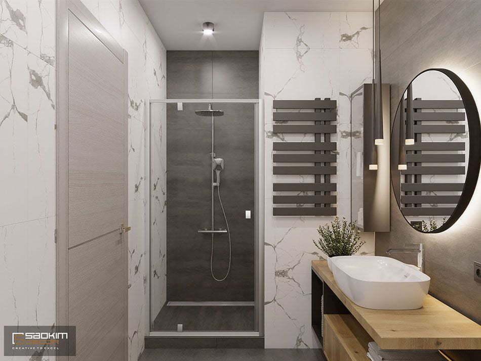 Thiết kế phòng tắm sang trọng, hiện đại