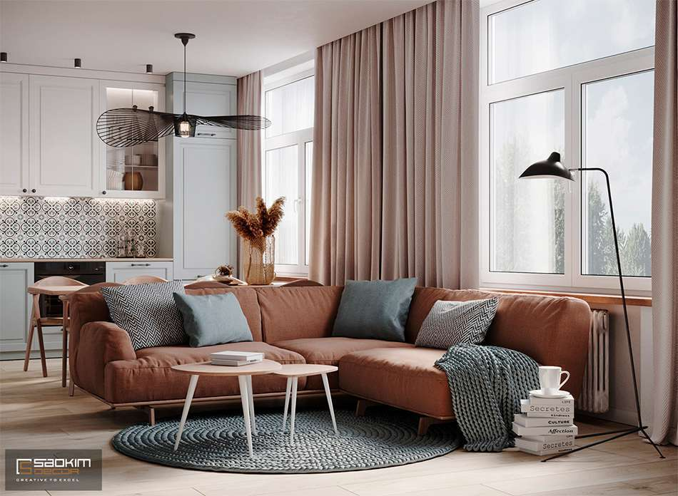 Thiết kế căn hộ 40m2 Vinhomes Smart City Tây Mỗ Đại Mỗ theo phong cách Scandinavian (Bắc Âu)