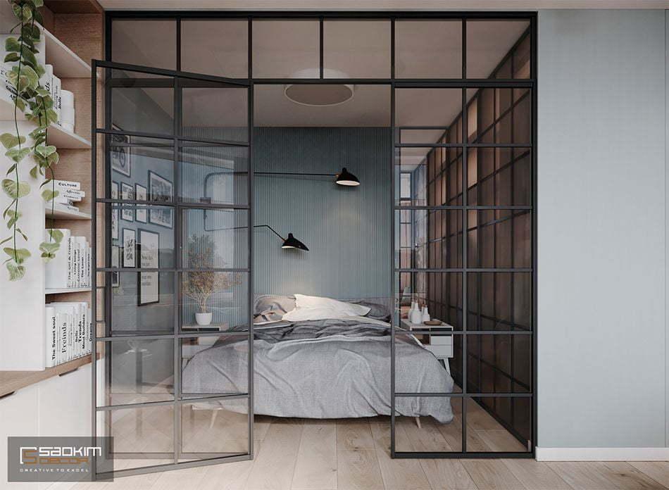 Thiết kế căn hộ 40m2 Vinhomes Smart City Tây Mỗ Đại Mỗ với phòng ngủ đậm chất Scandinavian