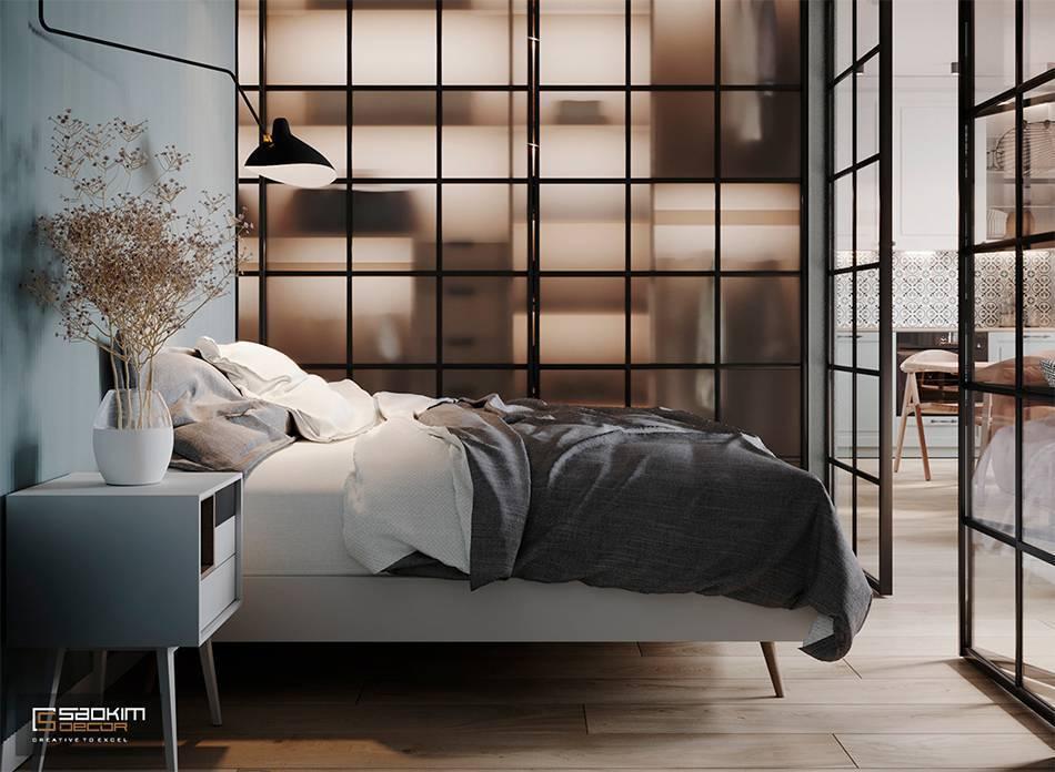 Thiết kế phòng ngủ căn hộ chung cư 40m2 Vinhomes Smart City