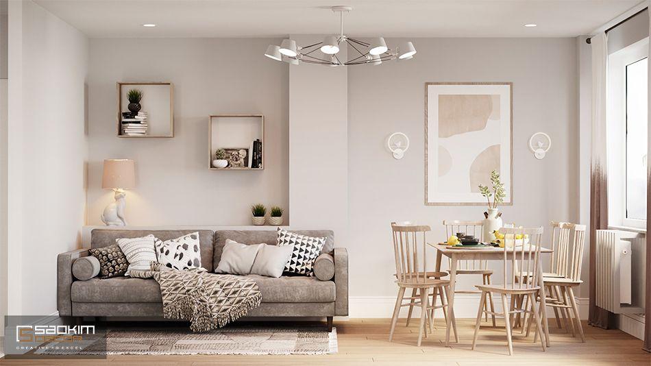 Lựa chọn không gian mở trong thiết kế căn hộ 80m2