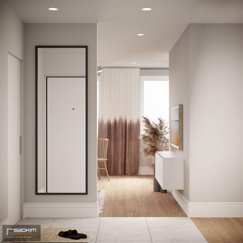 Mẫu thiết kế căn hộ chung cư 80m2