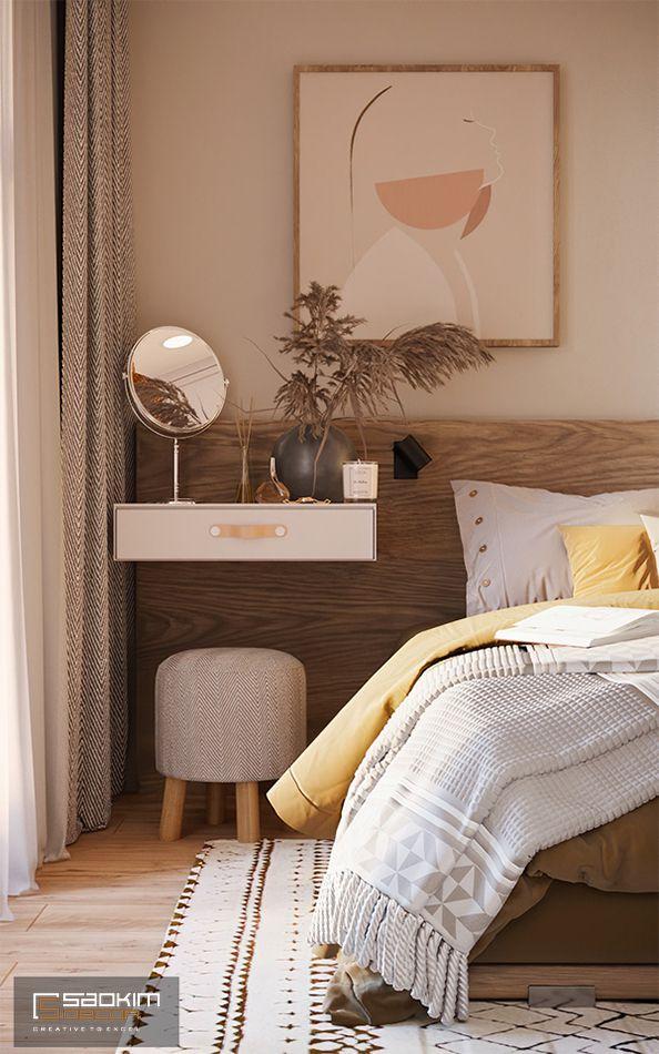 Thiết kế bàn trang điểm nhỏ gọn, xinh xắn cho căn phòng ngủ Master
