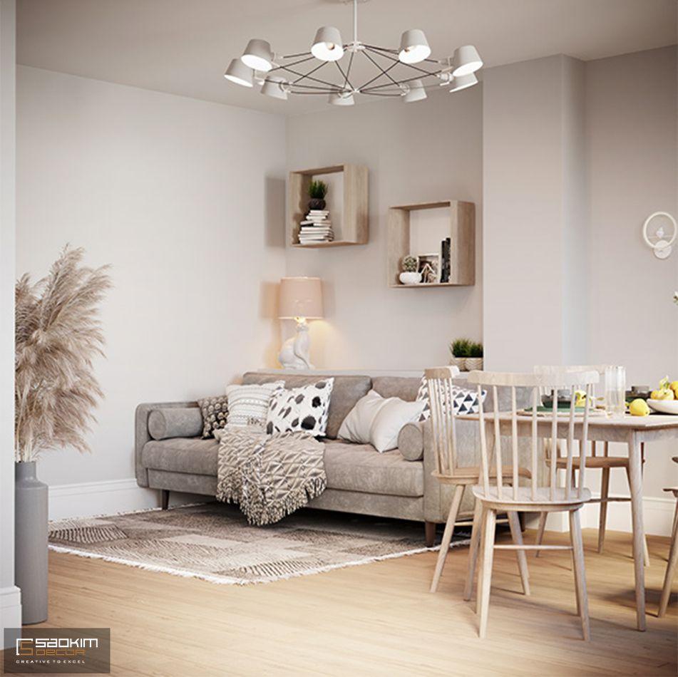 Thiết kế phòng khách đơn giản tinh tế