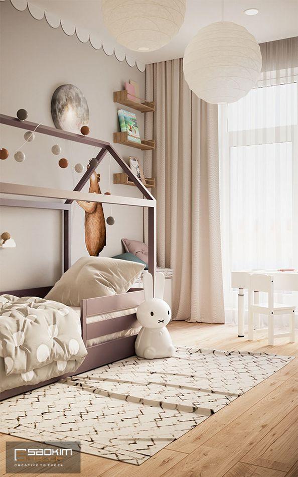 Phòng ngủ thiết kế ấn tượng mang đến sự thích thú cho bé