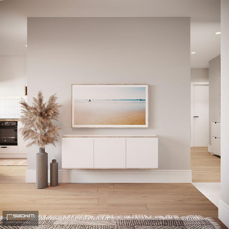 Mẫu phòng khách trong thiết kế căn hộ chung cư 80m2