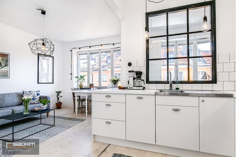 Thiết kế căn hộ mini với không gian mở thoáng đãng, tràn đầy sức sống
