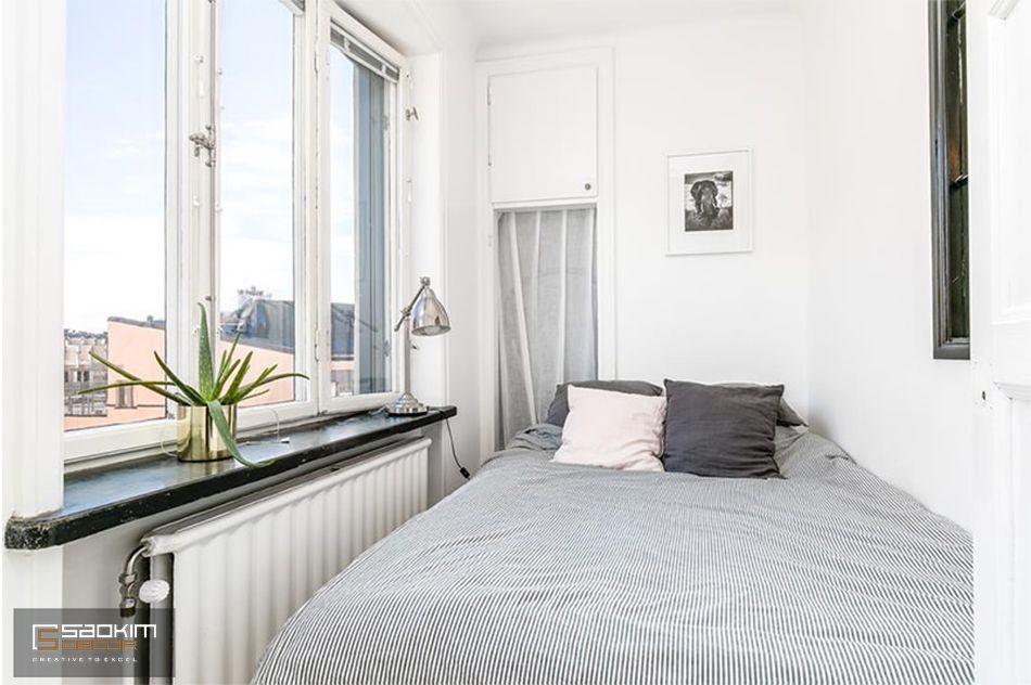 Mẫu thiết kế phòng ngủ đơn giản, thoáng mát