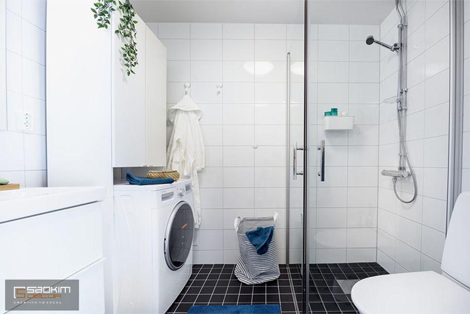 Không gian vệ sinh nhỏ nhắn, vẫn đáp ứng đầy đủ tiện nghi