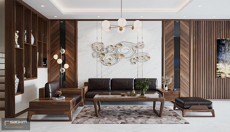 Mẫu thiết kế nội thất Hà Nội sang trọng, hiện đại của Sao Kim