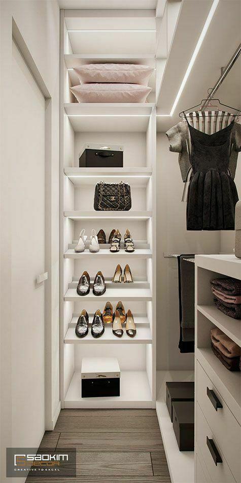 Thiết kế phòng ngủ thay đồ nhỏ
