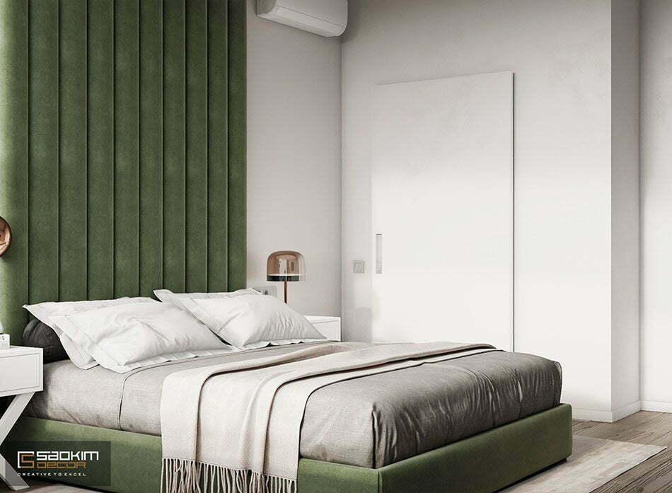 Thiết kế nội thất phòng ngủ chung cư Vinhomes Ocean Park