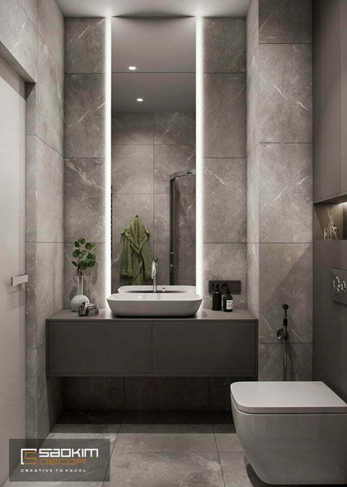 Thiết kế nội thất phòng tắm chung cư Vinhomes Ocean Park