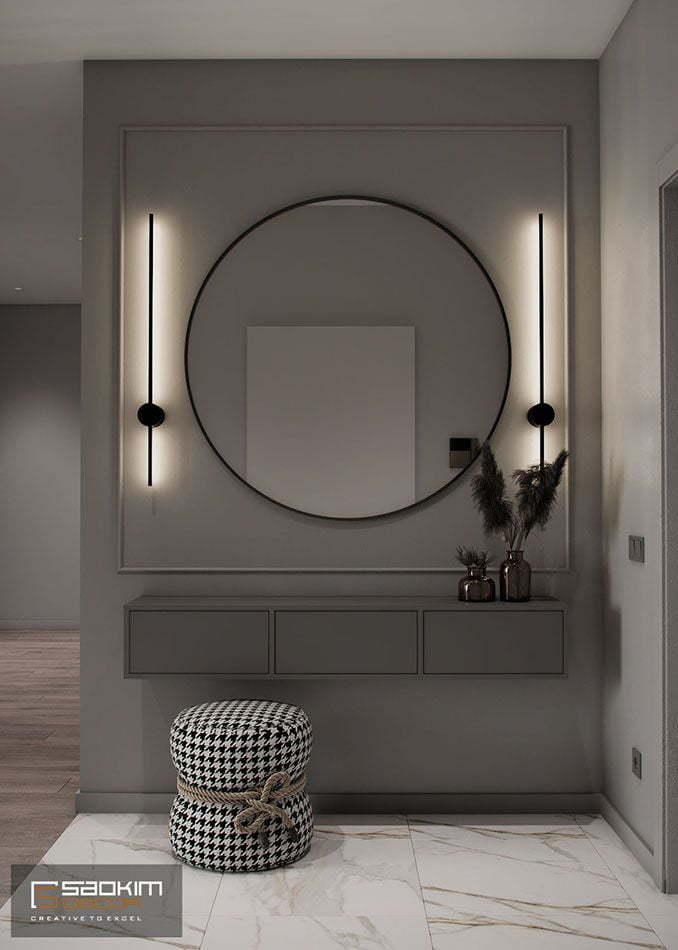 Thiết kế nội thất tiền sảnh nhà chung cư Vinhomes Ocean Park