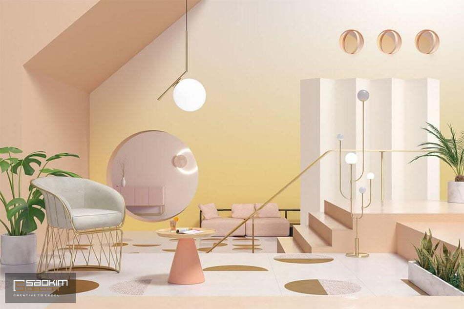 Thiết kế nội thất Color block chú trọng đến việc phối hợp và sử dụng khối màu sắc hài hòa trên cùng món đồ, thiết bị nội thất hoặc trong cùng một không gian.