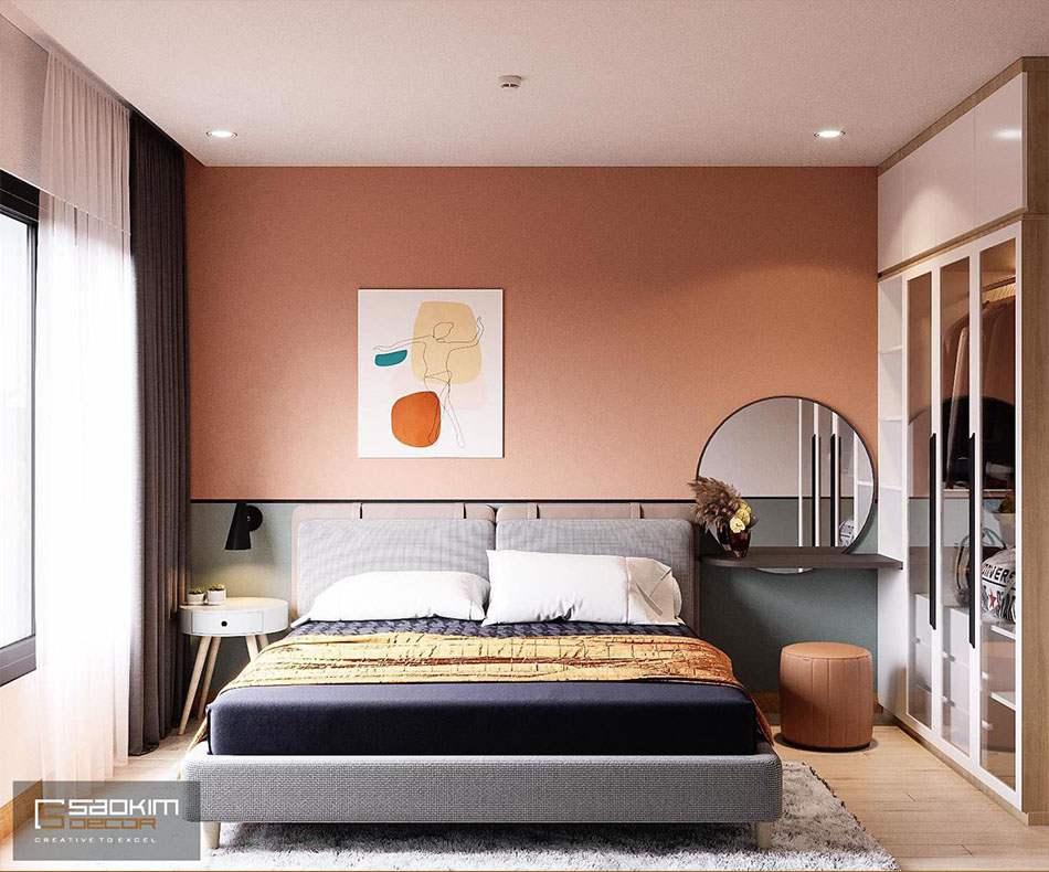 Phong cách thiết kế nội thất Color block cho phòng ngủ