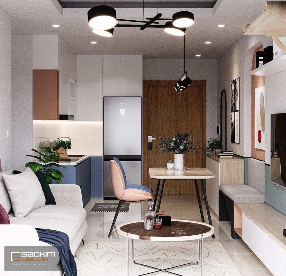 Ngày nay phòng bếp thường được thiết kế mở với phòng khách