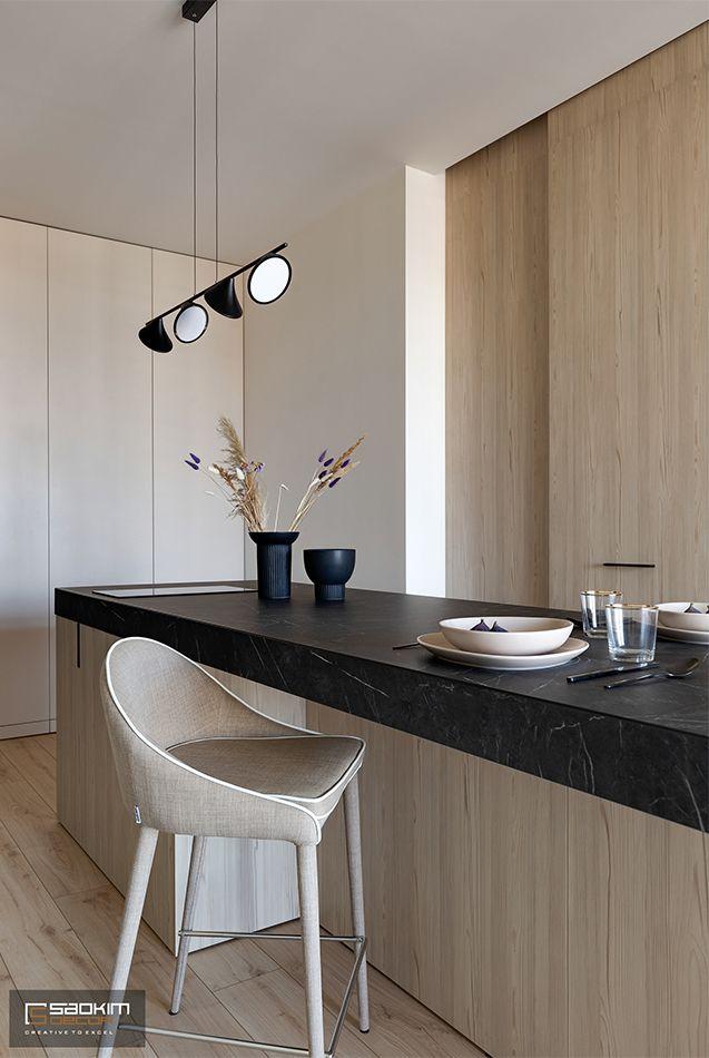 Thiết kế và thi công nội thất bàn ăn chung cư La Casta Tower phong cách hiện đại
