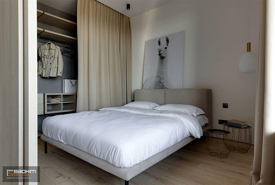 Hoàn thiện thiết kế nội thất phòng ngủ chung cư La Casta Tower phong cách hiện đại