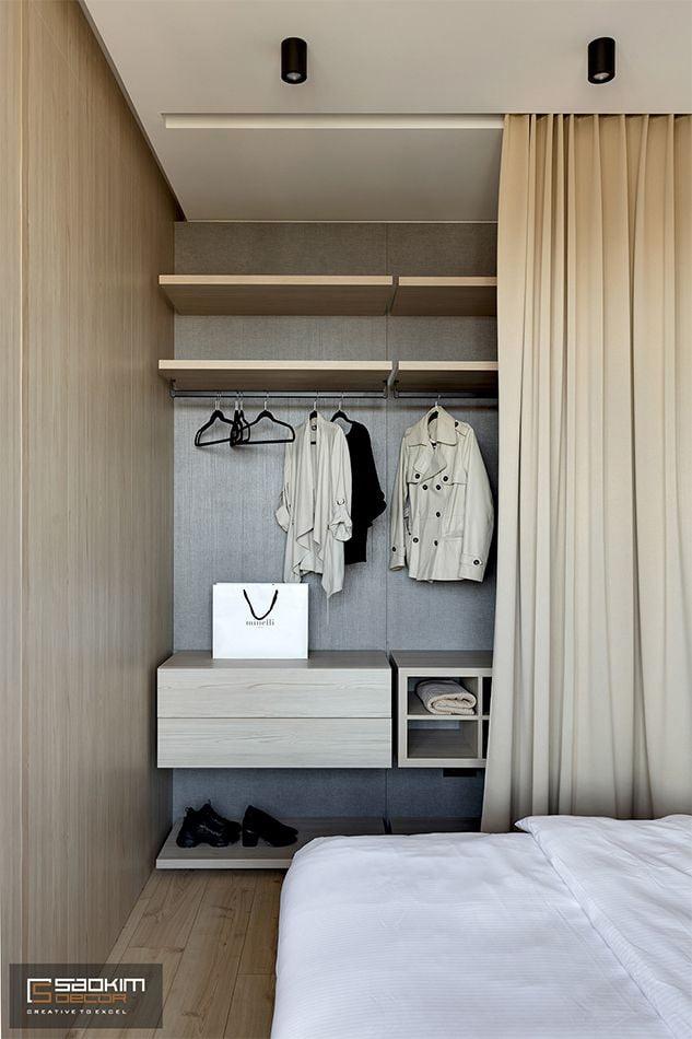 Thiết kế nội thất phòng ngủ chung cư 48m2 Văn Phú, Hà Đông