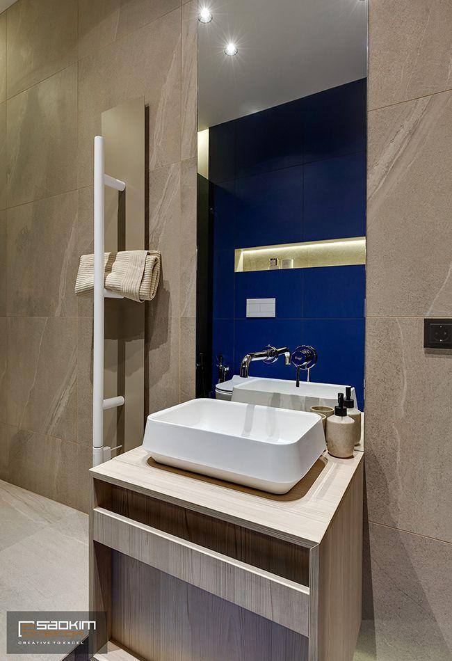 Hoàn thiện thiết kế thi công nội thất phòng tắm chung cư La Casta Tower 48m2