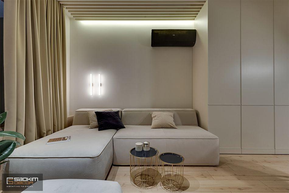 Thiết kế thi công nội thất phòng khách chung cư La Casta Tower phong cách hiện đại