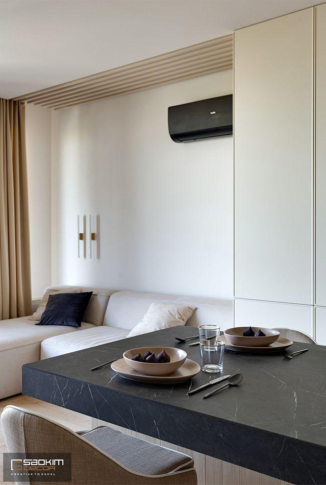 Thiết kế phòng khách chung cư La Casta Tower 48m2