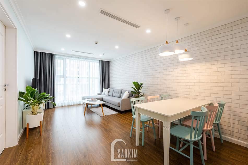 Thiết kế thi công nội thất phòng khách chung cư Sunshine Garden