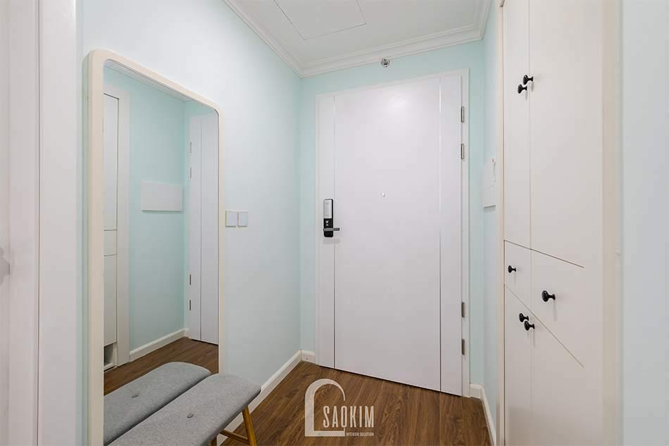 Thiết kế nội thất tối giản, thông minh mang lại không gian tiền sảnh rộng thoáng