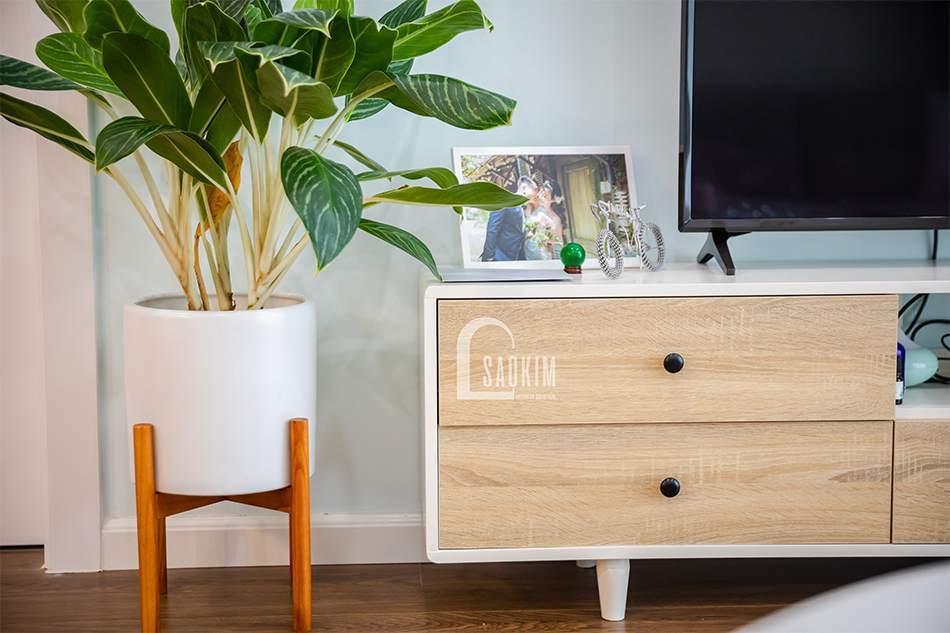 Thiết kế phòng khách chung cư Sunshine Garden 108m2
