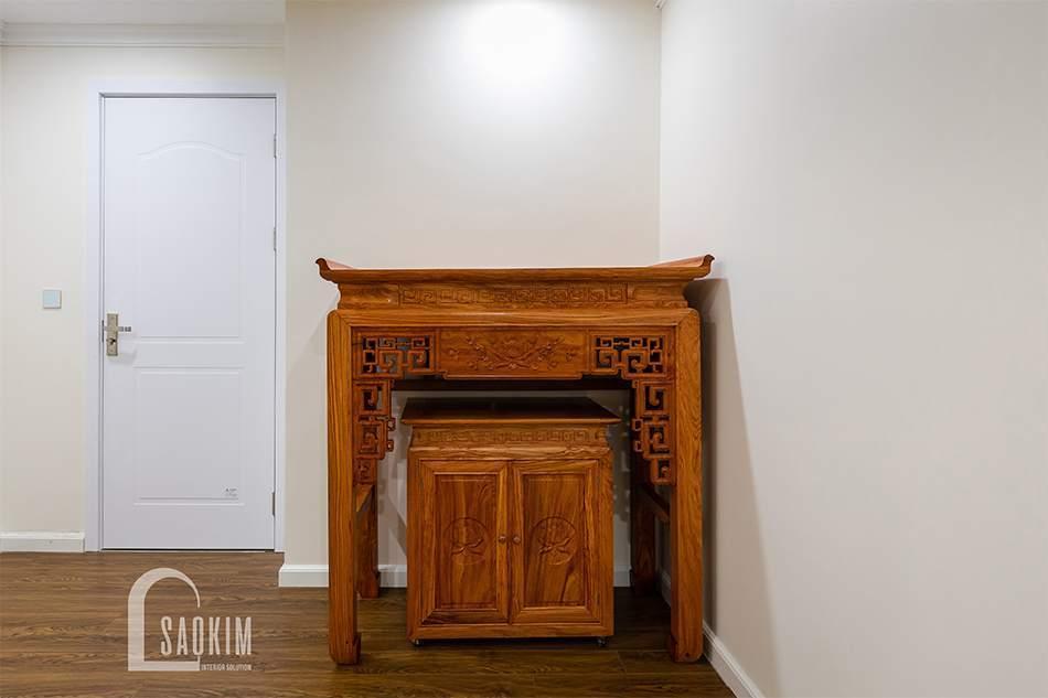 Thiết kế thi công nội thất phòng thờ chung cư Sunshine Garden 108m2