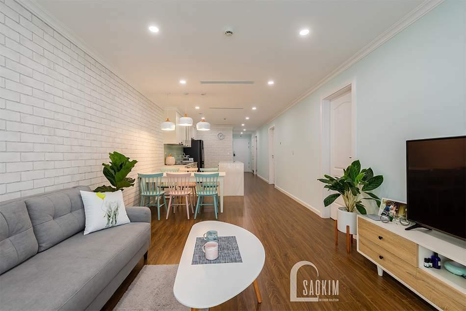 Mẫu hình ảnh hoàn thiện thiết kế thi công nội thất chung cư Sunshine Garden 108m2