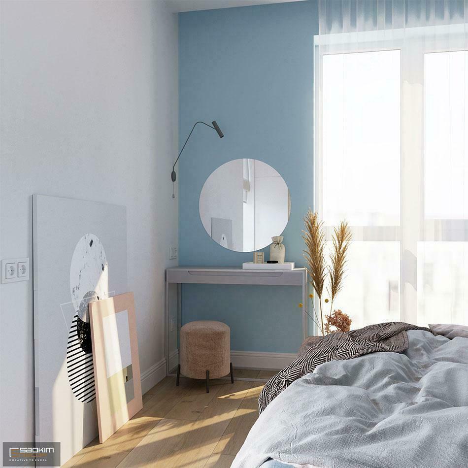 Không gian phòng ngủ mang đậm nét riêng của gia chủ nhờ các chi tiết trang trí