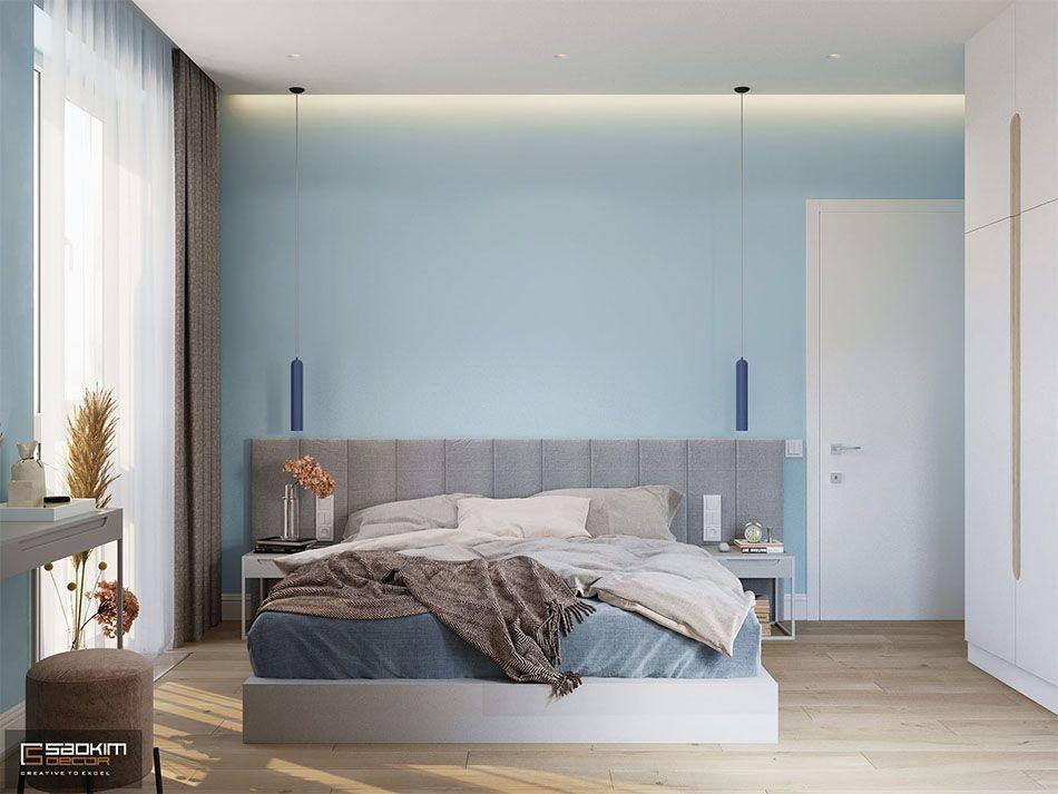 Thiết kế phòng ngủ Master căn hộ 70m2 dự án Vinhomes Symphony Riverside