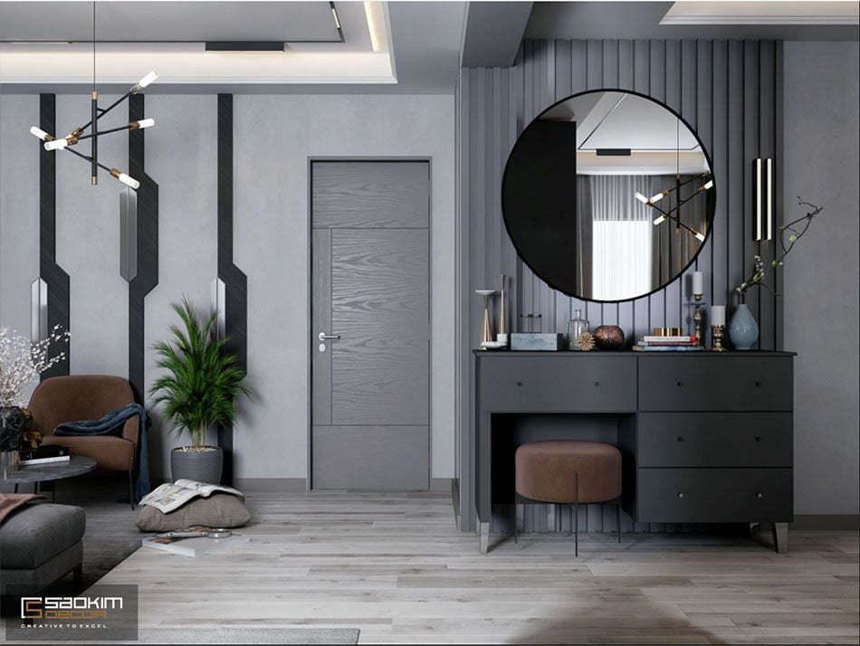 Mẫu căn hộ studio đẹp với thiết kế không gian mở