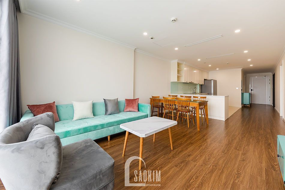Thiết kế và thi công phòng khách căn hộ chung cư Sunshine Garden