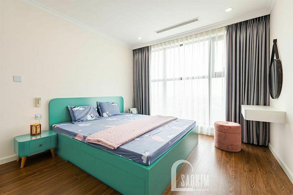 Thiết kế và thi công nội thất phòng ngủ Mastel chung cư Sunshine Garden 108m2